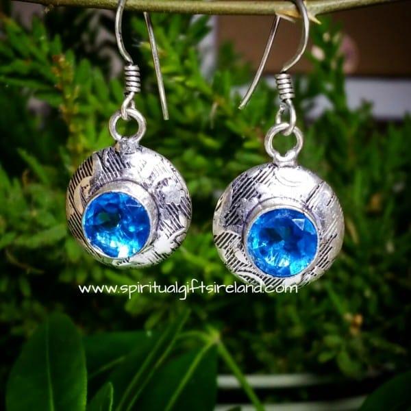 Handcrafted Sterling Silver Gemstone Earrings