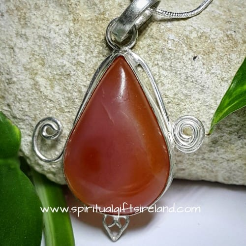 Carnelian Necklace Sterling Silver