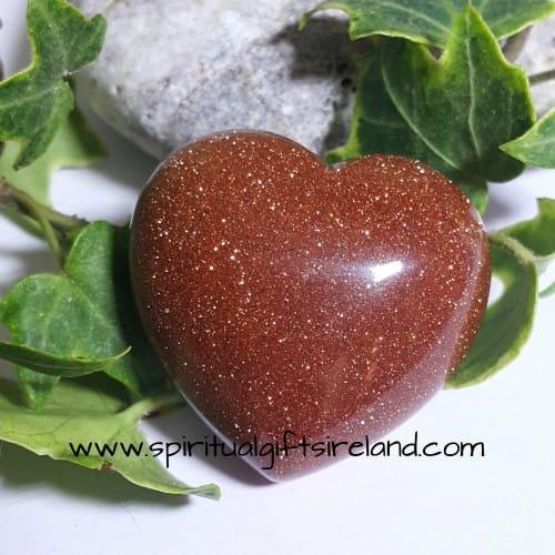 Goldstone Heart Crystal