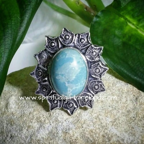 Larimar Ring Sterling Silver