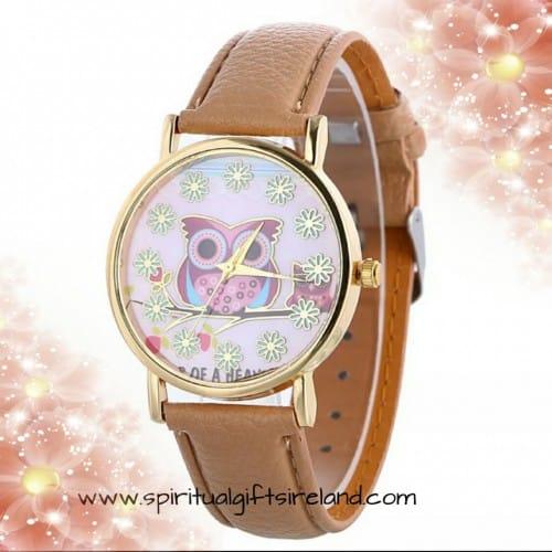 Owl Quartz Wristwatch
