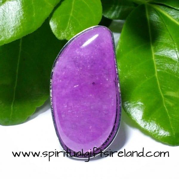 Purple Quartz Adjustable Gemstone Ring