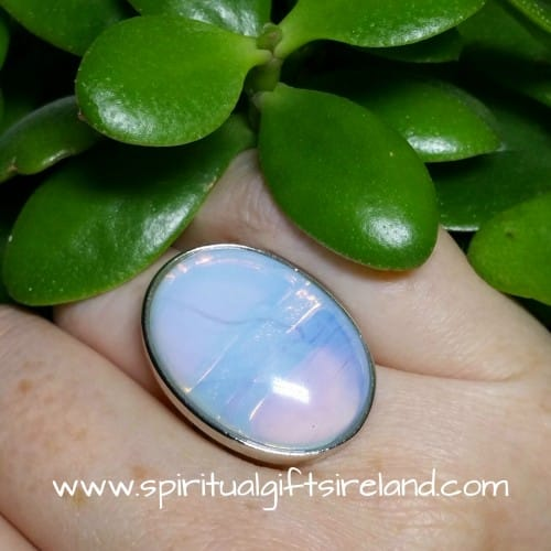 Opalite Enlightenment Crystal Gemstone Ring Adjustable Size