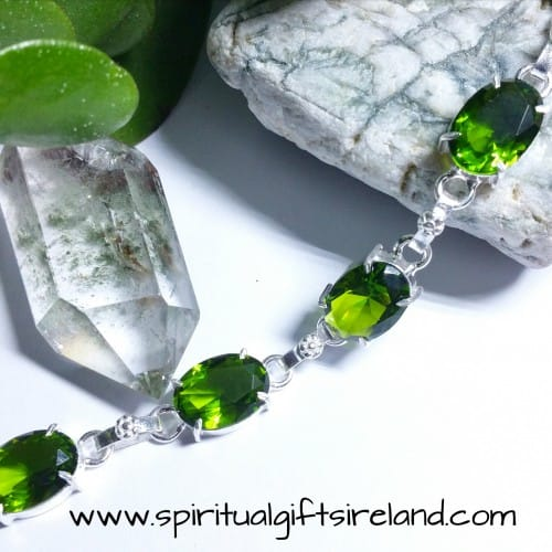 Peridot New Beginnings Handcrafted Bracelet Sterling Silver