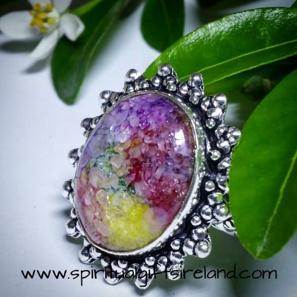 Solar Quartz Huge Rainbow Statement Ring