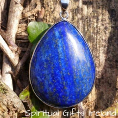 Lapiz Lazuli Water Drop Crystal Gemstone Pendant