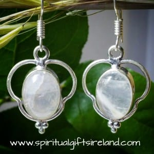 Clear Quartz Sterling Silver Gemstone Earrings