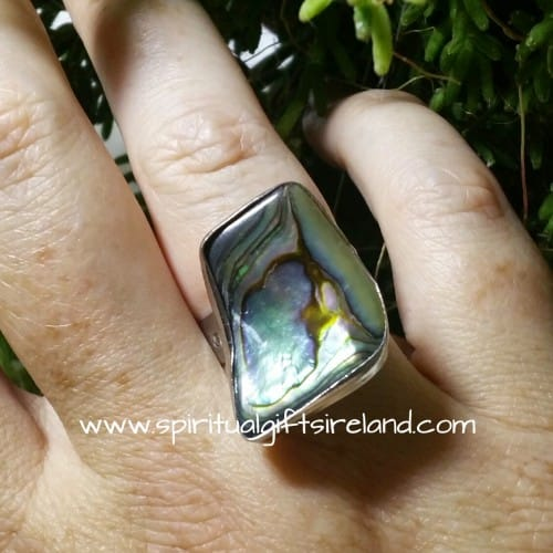 Abalone Shell Ring Adjustable