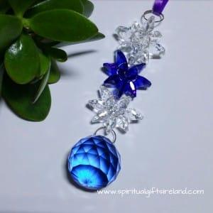 Blue Light Ray Swarovski Crystal Suncatcher
