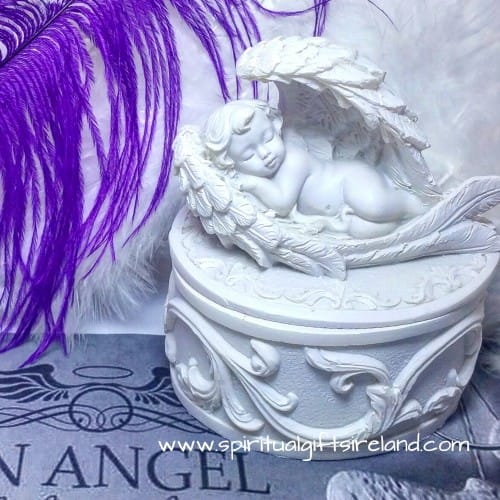 Sleeping Baby Angel Trinket Keepsake Box