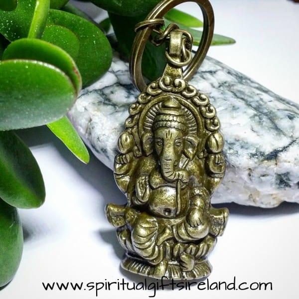 Ganesh Elephant Bronze Keyring Keychain