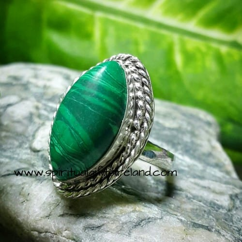 Malachite Ring Sterling Silver