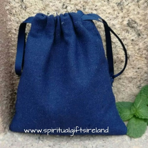 Navy Blue Cotton Drawstring Gift Pouches