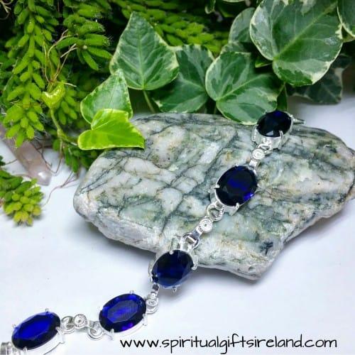 Tanzanite Violet Flame Healing Crystal Gemstone Bracelet