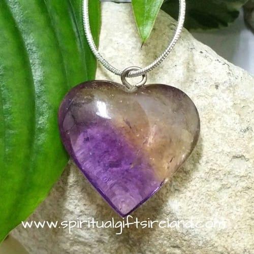 Ametrine Queen of Hearts Crystal Gemstone Pendant