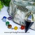 Chakra Black Onyx Mirror Reflecting Reiki Hand Dowsing Pendulum
