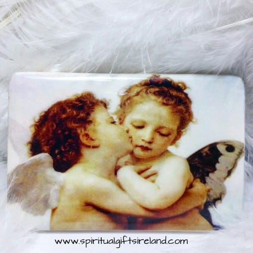 Cherub Handmade Pottery Magnets Angel Hugs