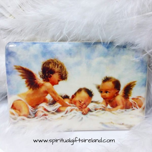 Cherub Handmade Pottery Magnets Baby Cherubs