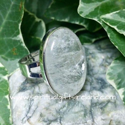 Clear Quartz Master Healer Adjustable Gemstone Ring (3)