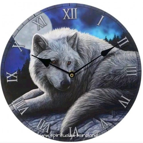 Guardian of the Forest Lone Wolf Wall Clock