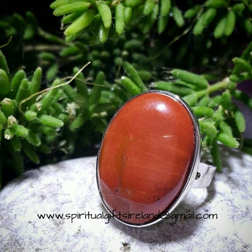 Jasper Adjustable Gemstone Ring