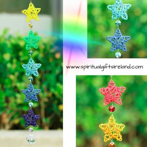Rainbow Star Swarovski Crystal Suncatcher
