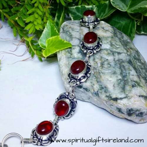 Red Agate Root Chakra Crystal Gemstone Bracelet (2)