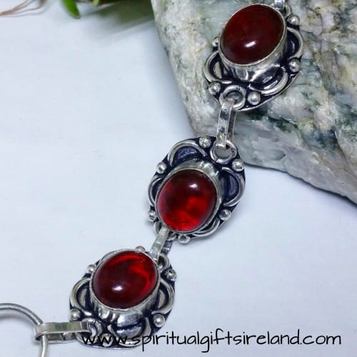 Red Agate Root Chakra Crystal Gemstone Bracelet (3)
