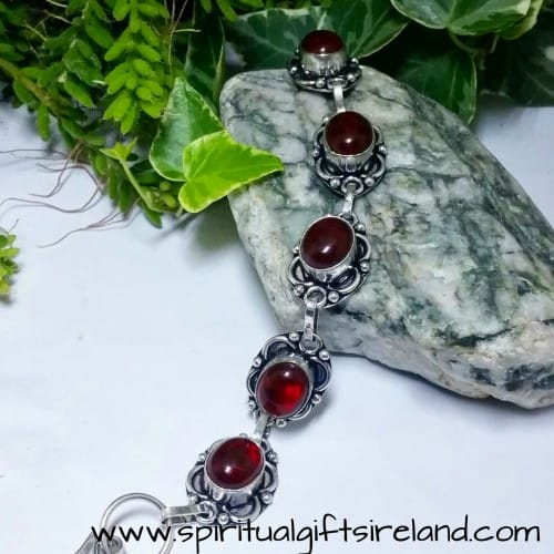Red Agate Root Chakra Crystal Gemstone Bracelet (5)