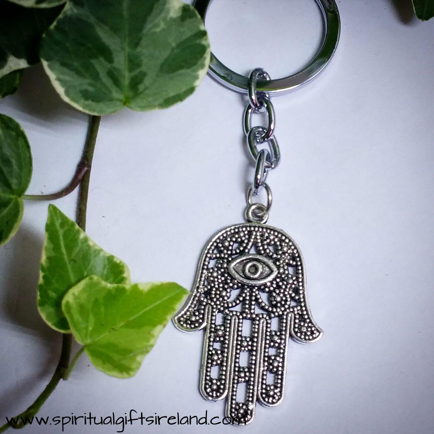 Reiki Hamsa Hand Keyring Keychain
