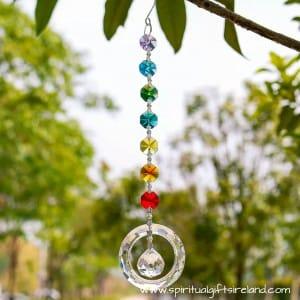 Unity Circle Chakra Crystal Suncatcher