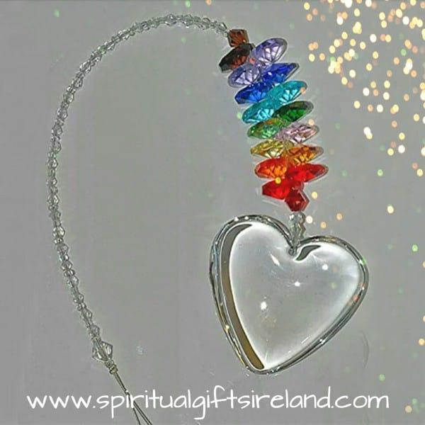 Chakra Heart Swarovski Crystal Hanging Suncatcher