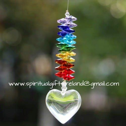 Chakra Heart Swarovski Crystal Suncatcher