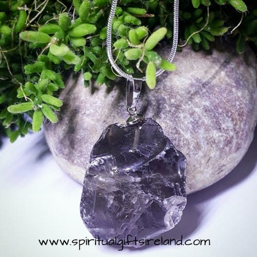 Smoky Quartz Raw Stone Pendant
