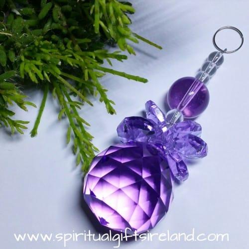 Archangel Zadkiel Purple Angel Swarovski Crystal Suncatcher