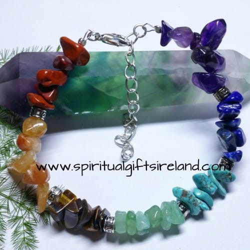 Chakra Gemstone Chip Crystal Bracelet Larger Stones