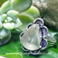 Clear Quartz Golden Rutile Crystal Gemstone Sterling Silver Ring (2)