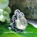 Clear Quartz Golden Rutile Crystal Gemstone Sterling Silver Ring (4)