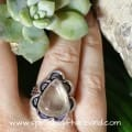 Clear Quartz Golden Rutile Crystal Gemstone Sterling Silver Ring (5)