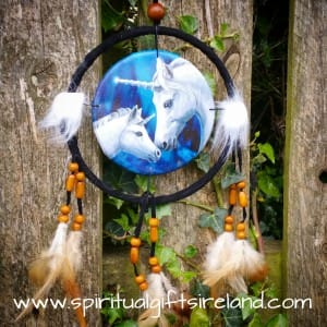 Foal and Mama Unicorn Mandala Dreamcatcher