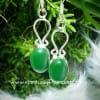 Green Onyx Earrings Sterling Silver