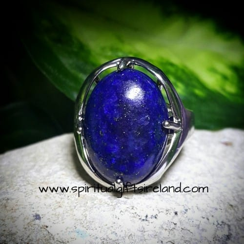 Lapis Lazuli Adjustable Gemstone Ring