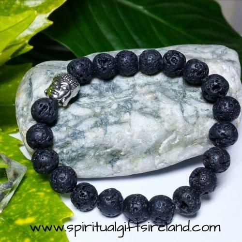 Lava Stone Aromatherapy Diffuser Buddha Bracelet