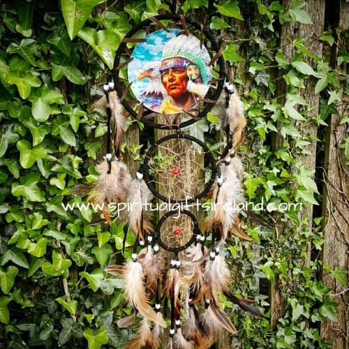 Medium Dreamcatcher Indian Chief