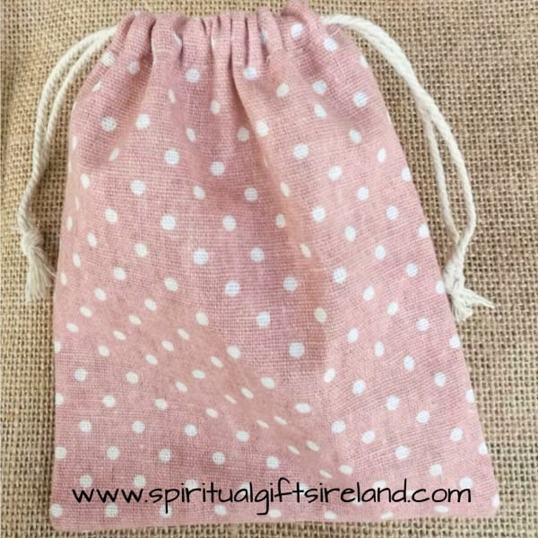 Cotton Gift Bag Drawstring Dots