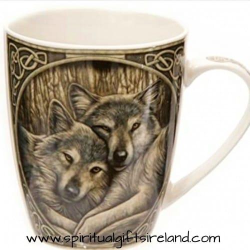 Wolf Cuddles Bone China Mug