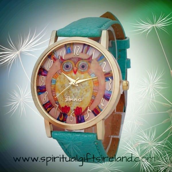 Mint Green Owl Watch