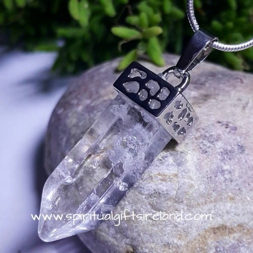 Dainty Clear Quartz Point Pendant