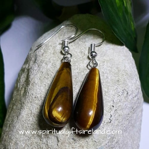 Tigers Eye Gemstone Earrings