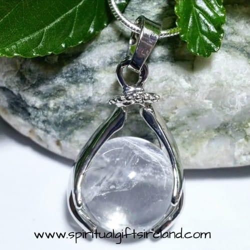 Clear Quartz Healing Hands Pendant